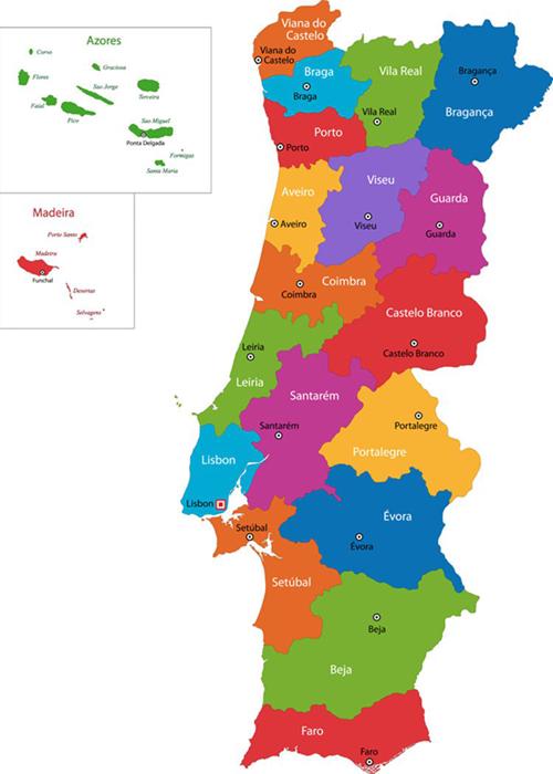 Mapa das regiões acreditadas